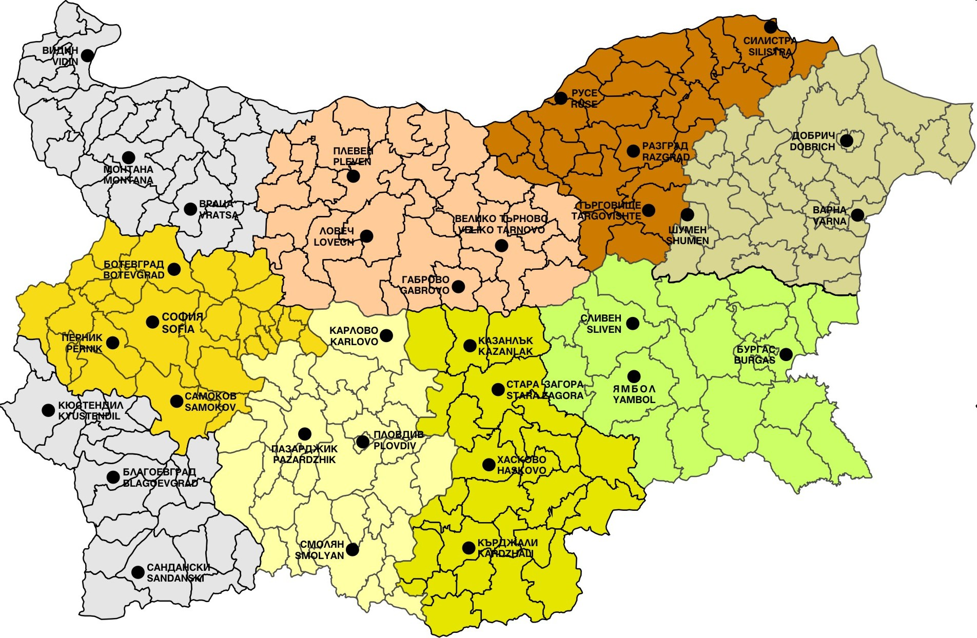 Foundation Net Map Of Bulgaria